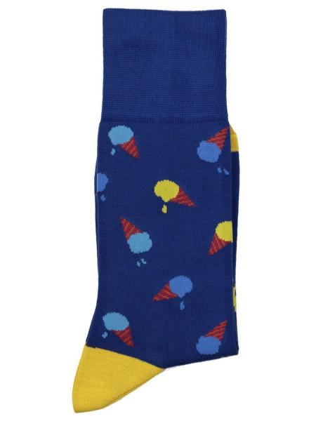 POURNARA Ανδρικές Κάλτσες Design Ice Cream #211-202 Μπλε