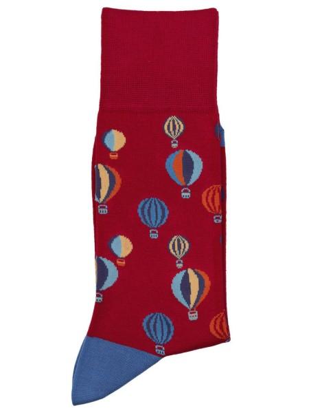 POURNARA Ανδρικές Κάλτσες Design Balloons #211-203 Κόκκινες