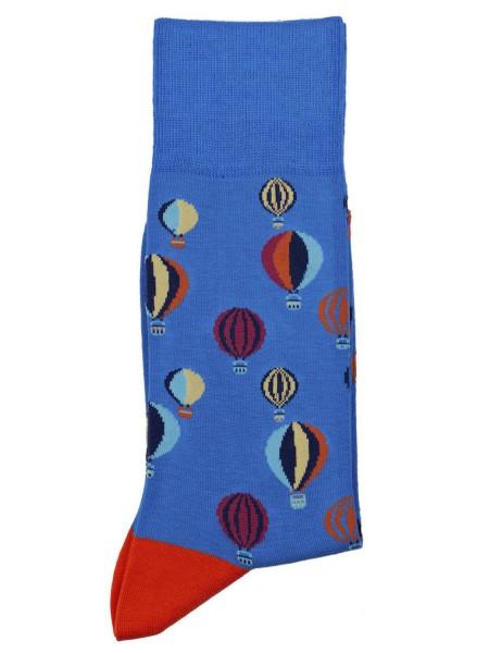 POURNARA Ανδρικές Κάλτσες Design Balloons #211-204 Μπλε