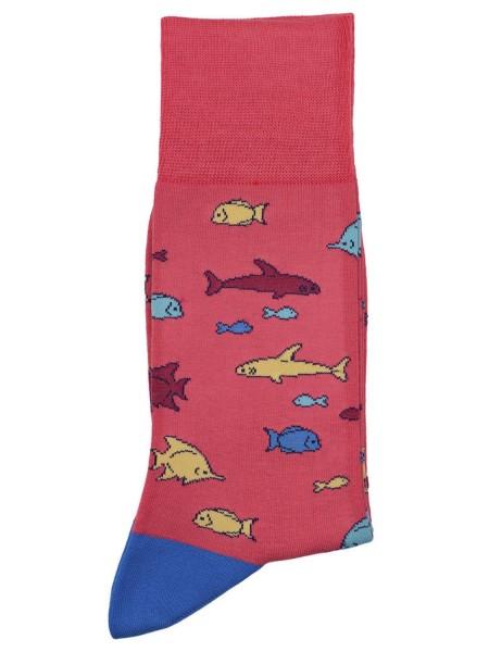 POURNARA Ανδρικές Κάλτσες Design Fish #211-205 Κοραλλί