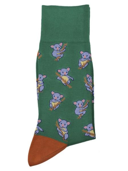 POURNARA Ανδρικές Κάλτσες Design Koalas #211-209 Πράσινες