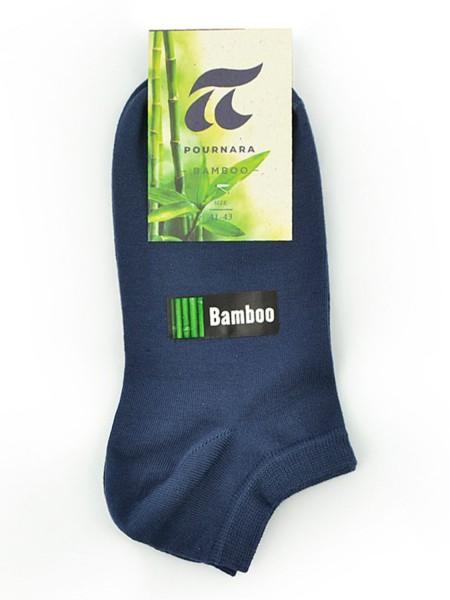 POURNARA Κάλτσες Κοφτές Bamboo #248-88 Μπλε Ραφ