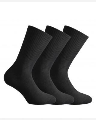 Walk Ανδρικές Αθλητικές Κάλτσες Set 3 τεμαχίων - V9900 ΜΑΥΡΟ