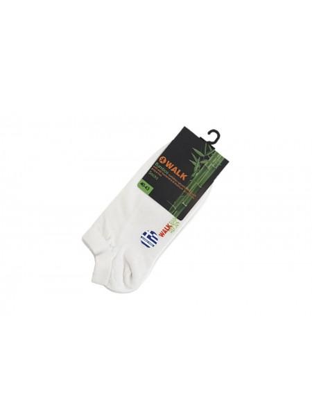 WALK Ανδρικές Κάλτσες Κοφτές Bamboo ΛΕΥΚΟ - W324