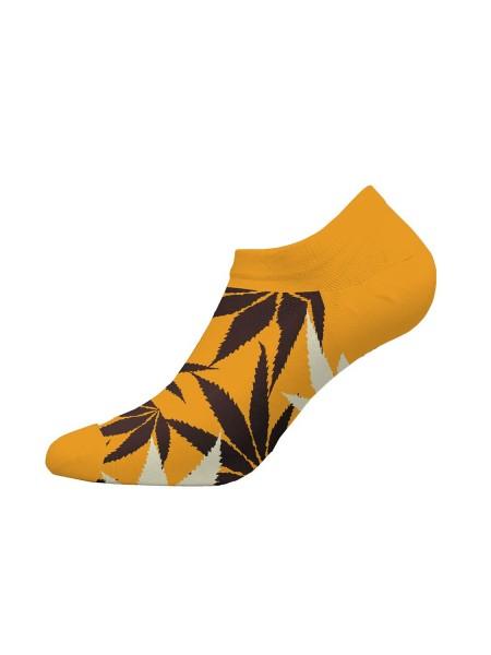 WALK Ανδρικές Κάλτσες Κοφτές Bamboo με σχέδιο - W325-1 ΚΙΤΡΙΝΟ ΣΚΟΥΡΟ