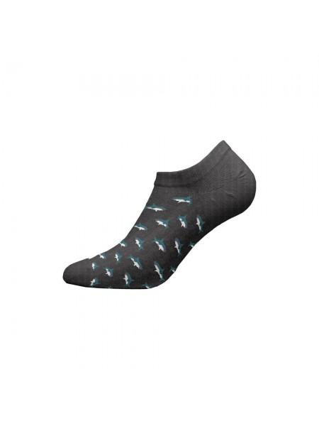 WALK Ανδρικές Κάλτσες Sneaker Bamboo  - W325-3 ΓΚΡΙ ΣΚΟΥΡΟ