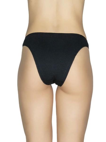 AA UNDERWEAR Κυλοτάκι Bikini Δαντέλα cotton/modal 2ΤΕΜ #506 Μαύρο & Κόκκινο