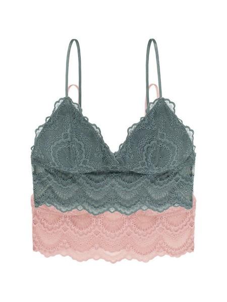 DORINA Mia Σουτιέν Bralette 1+1 Δώρο - D000761LA012-2X0072 Green / Pink