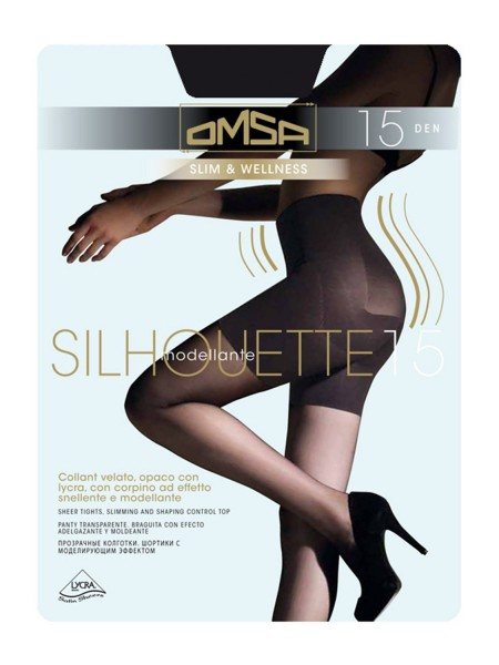 OMSA Γυναικείο Καλσόν Σύσφιξης SILHOUETTE 15 DEN #4028-0091 BLACK