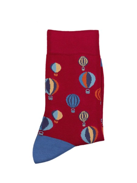 POURNARA Γυναικείες Κάλτσες Design Balloons #211-103 Κόκκινες