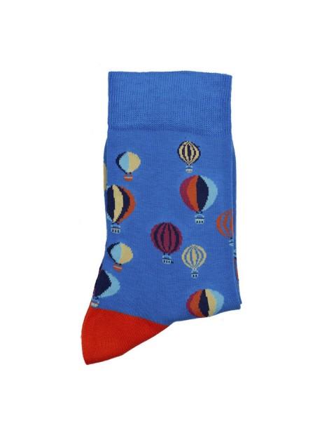 POURNARA Γυναικείες Κάλτσες Design Balloons #211-104 Μπλε