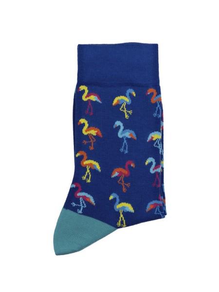 POURNARA Γυναικείες Κάλτσες Design Flamingo #211-108 Μπλε