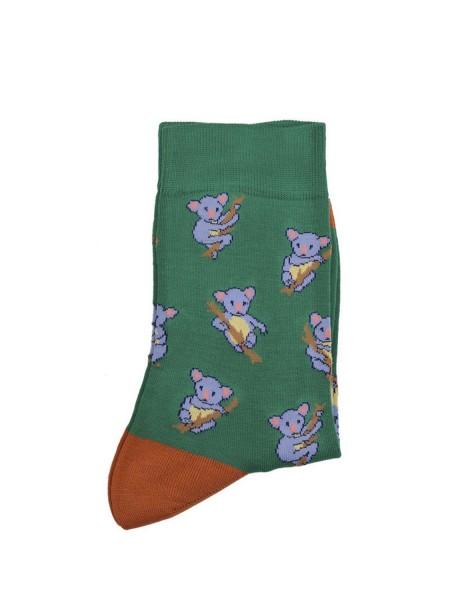 POURNARA Γυναικείες Κάλτσες Design Koalas #211-109 Πράσινες