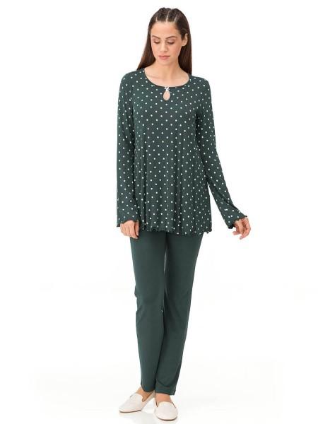 Vamp - Γυναικεία Πιτζάμα Green Scarab 13211