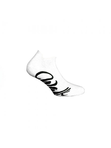 WALK Γυναικείες Αθλητικές Βαμβακερές Κοφτές Κάλτσες Με Σχέδιο W142-1 ΛΕΥΚΟ