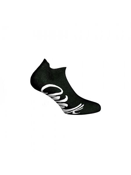 WALK Γυναικείες Αθλητικές Βαμβακερές Κοφτές Κάλτσες Με Σχέδιο W142-1 ΜΑΥΡΟ