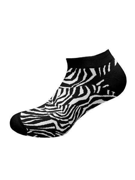 WALK Γυναικείες Κοφτές Κάλτσες Bamboo Με Σχέδιο W332-9 ΜΑΥΡΟ
