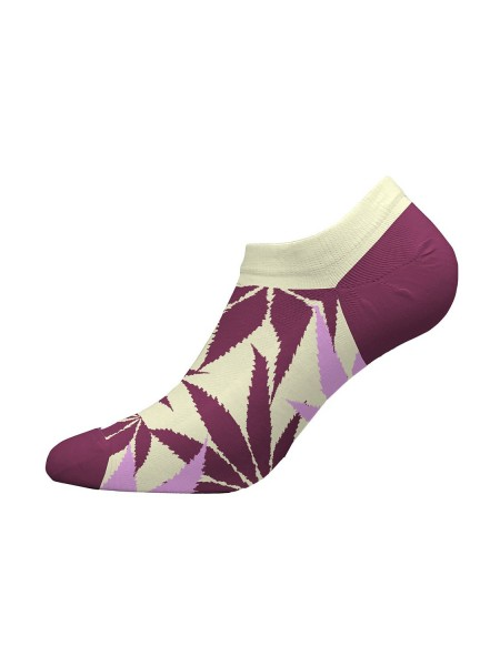 WALK Γυναικείες Κάλτσες Sneaker Bamboo Με Σχέδιο W335-3 ΕΚΡΟΥ