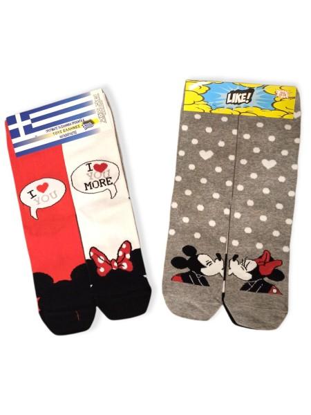 LIKE Kάλτσες ψηλές με σχέδια για κορίτσι σετ 2 ζεύγη #Minnie