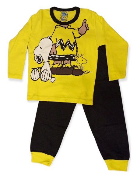 LIKE Bebe Πυτζάμα Χειμωνιάτικη για αγόρι 1-5 ετών #119-0153 Κίτρινο