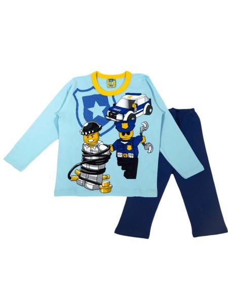 LIKE Παιδική Πυτζάμα Χειμωνιάτικη για αγόρι 6-12 ετών #120-0010 Γαλάζιο