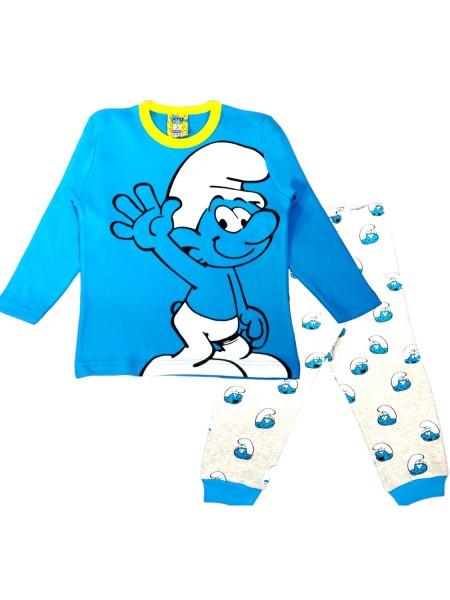 LIKE Bebe Πυτζάμα Χειμωνιάτικη για αγόρι 1-5 ετών #120-0101 Γαλάζιο