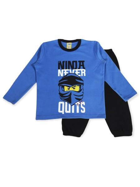 LIKE Παιδική Πυτζάμα Χειμωνιάτικη για αγόρι 6-12 ετών #121-0012 Μπλε