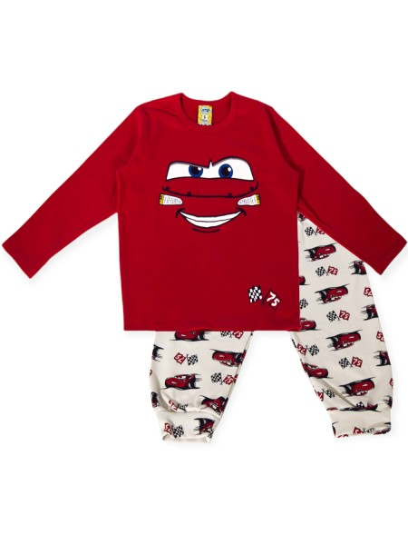 LIKE Bebe Πυτζάμα Χειμωνιάτικη για αγόρι 1-6 ετών #121-0114 Κόκκινο