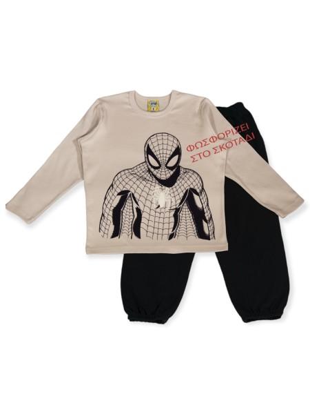 LIKE Bebe Πυτζάμα Χειμωνιάτικη για αγόρι 1-6 ετών #121-0118 Αράχνη