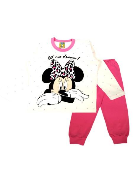 LIKE Παιδική Πυτζάμα Χειμωνιάτικη για Κορίτσι 6-12 ετών #120-0204 Λευκό