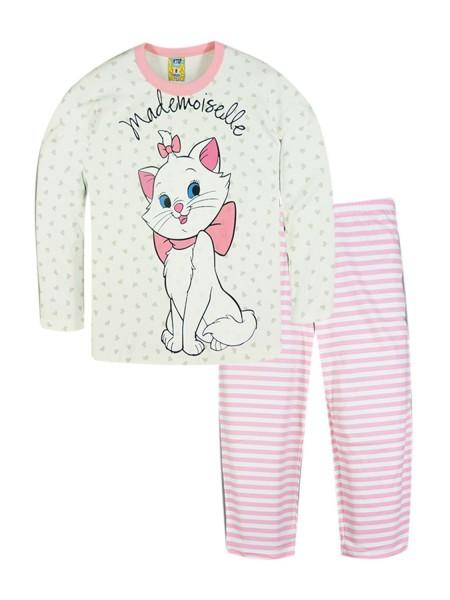 LIKE Παιδική Πυτζάμα Χειμωνιάτικη για Κορίτσι 6-12 ετών #120-0207 Λευκό Ροζ