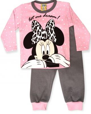 LIKE Bebe Πυτζάμα Χειμωνιάτικη για Κορίτσι 1-5 ετών #120-0303 Ροζ