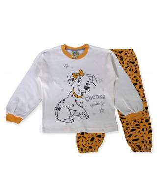 LIKE Bebe Πυτζάμα Χειμωνιάτικη για Κορίτσι 1-5 ετών #121-0312 Κίτρινο