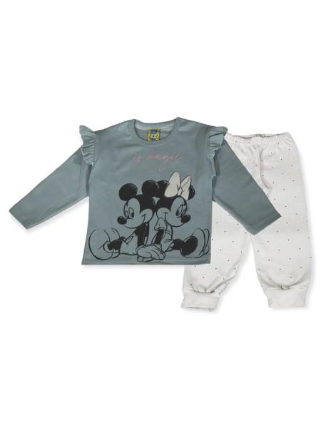 LIKE Bebe Πυτζάμα Χειμωνιάτικη για Κορίτσι 1-5 ετών #121-0315 Βεραμάν