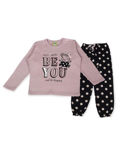 LIKE Bebe Πυτζάμα Χειμωνιάτικη για Κορίτσι 1-5 ετών #121-0319 Ροζ